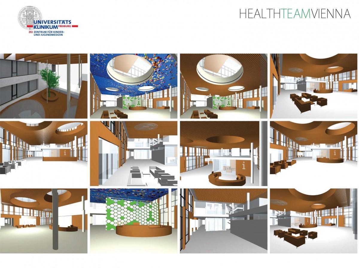 Entwurfskizzen zur Eingangshalle